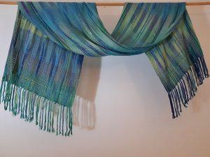 June Croll - Flowing Waters silk scarf