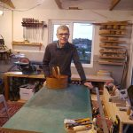 Keith Sharrock - in workshop